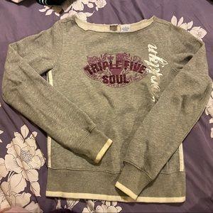 Triple 5 soul purple grey pullover sweatshirt Med